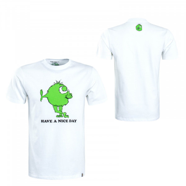 Herren T-Shirt Nice Day White