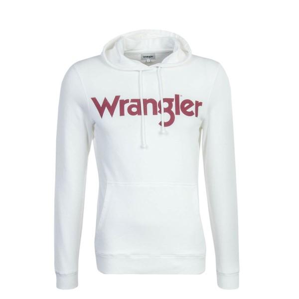 Wrangler Hoody Logo Beige Red