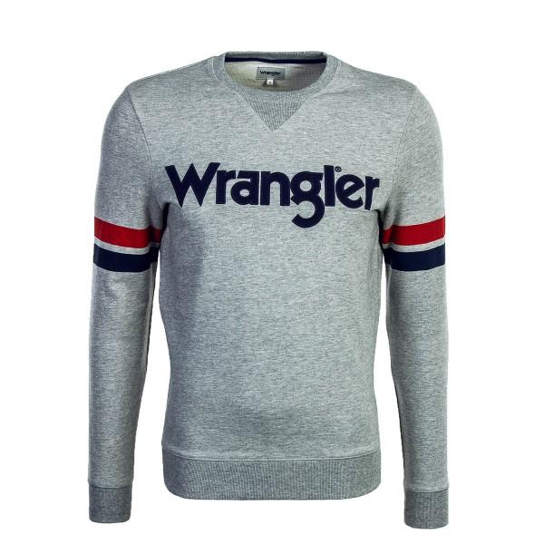 Wrangler Sweat Logo Mid Grey Melange