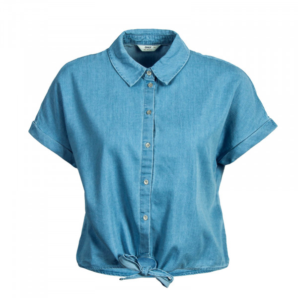 Damen Bluse Knot Milen Light Blue