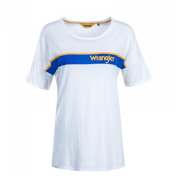 Damen T-Shirt B&Y Trucker White Royal