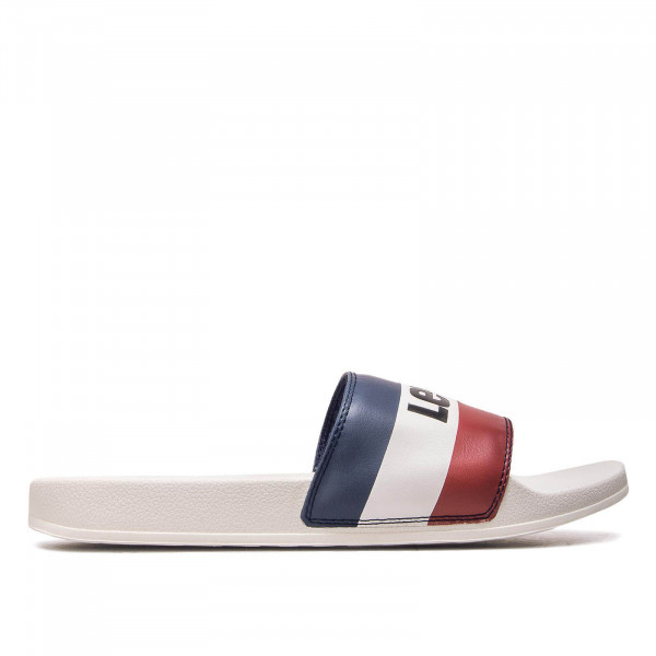 Herren Slide June Sportswear White Red Blue