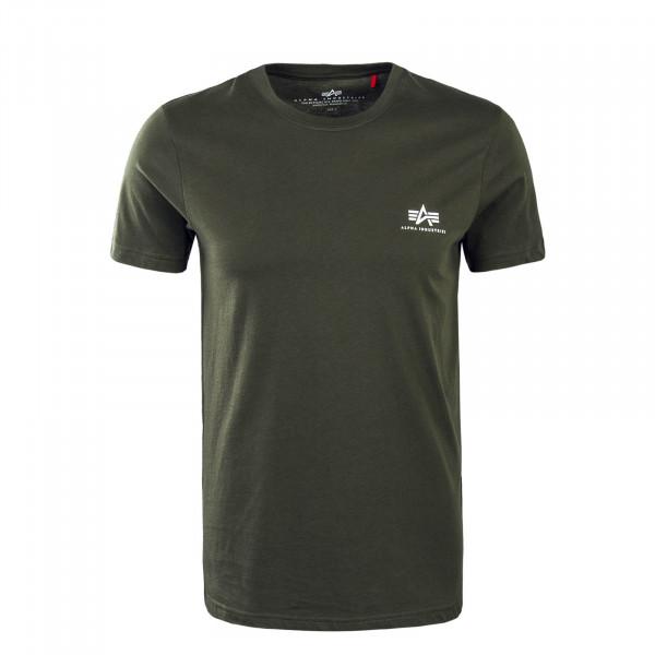 Herren T-Shirt Small Basic Olive