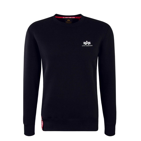 Alpha Sweat Basic Sweater Small Black