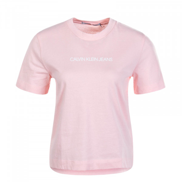Damen T-Shirt Shrunken Institution Pink