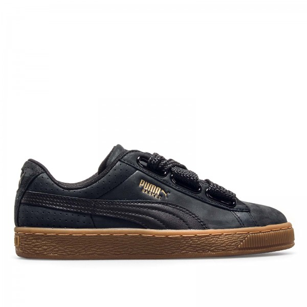 Puma Wmn Basket Heart PerfGum Black Gold