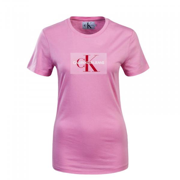 Damen T-Shirt Flock Pink Red