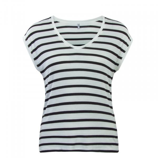 Top Wilma Stripe White Black