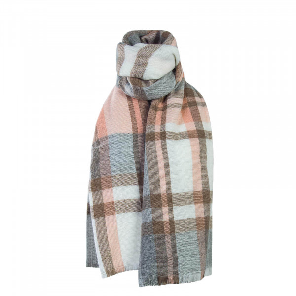 Only Scarf Sasa Weaved Check Grey Rosa