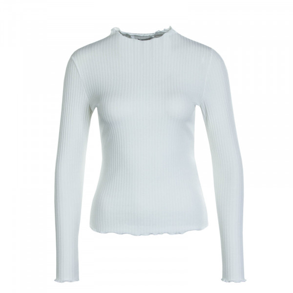 Damen Longsleeve  Emma High Neck Egret