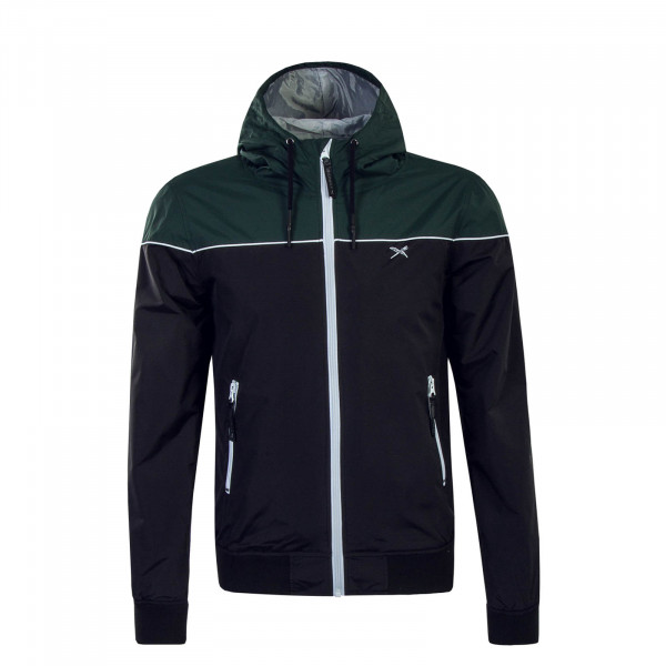 Herren Jacke Mini Flag Black Green