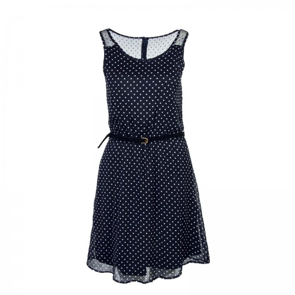 Only Dress Lia Lace Small Dot Navy White