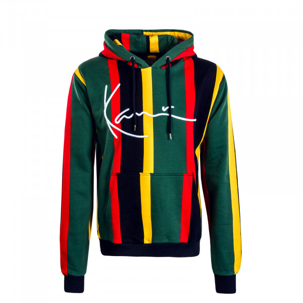 Herren Hoody Signature Stripe Green Red