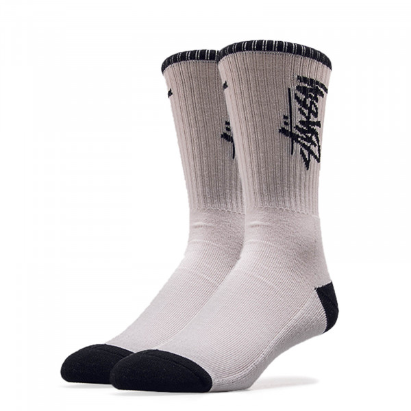 Stüssy Socks Stock White Black