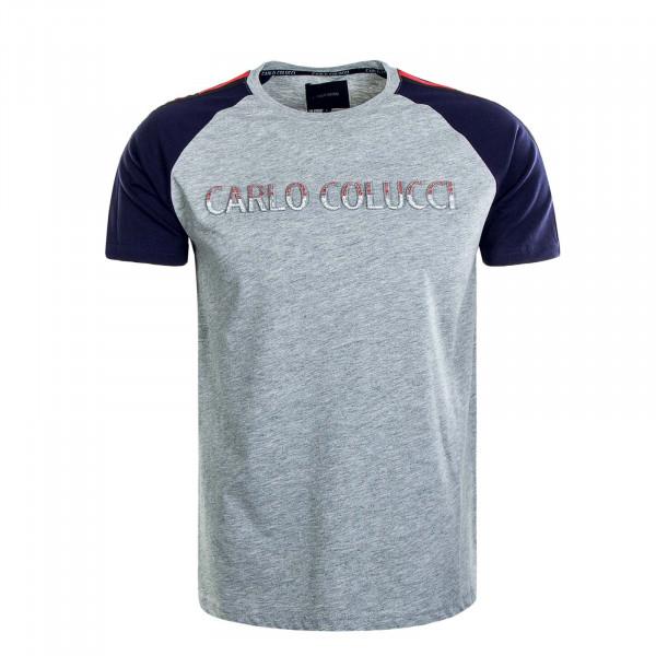 Herren T-Shirt C2739 Grey Navy Red