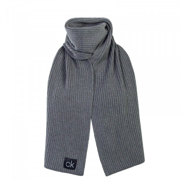 CK Scarf Basic Rib Grey