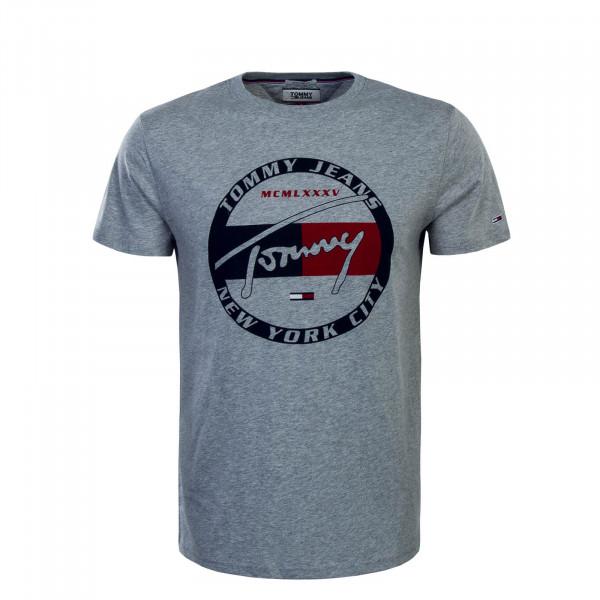 Herren T-Shirt Circle Graphic Grey