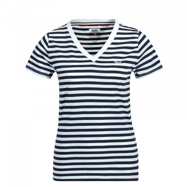 Damen T-Shirt Classic Stripe Navy White
