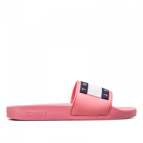Tommy Wmn Slide Pool Flag Pink
