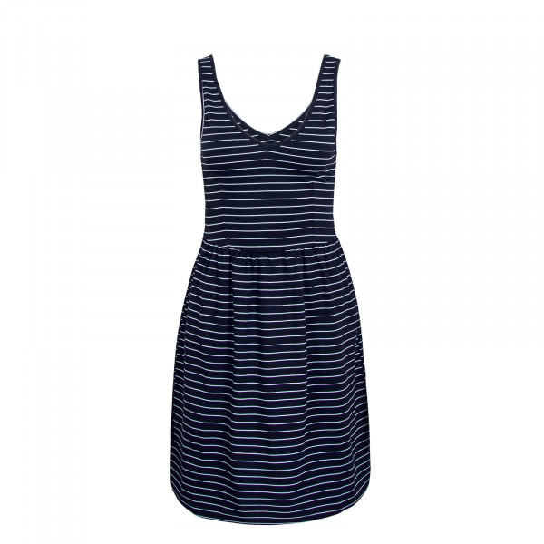 Dress V-Neck JRS Navy White