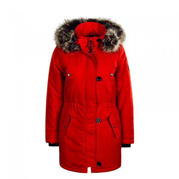 Damen Mantel Iris Fur Red