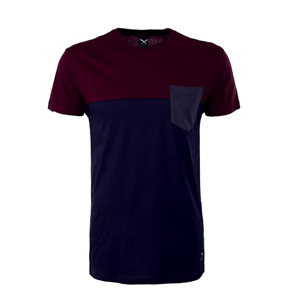 Iriedaily TS Block Pocket Navy Wine
