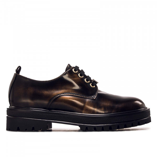 Damen Schuh - Polished Lace Up Shoe - Gold