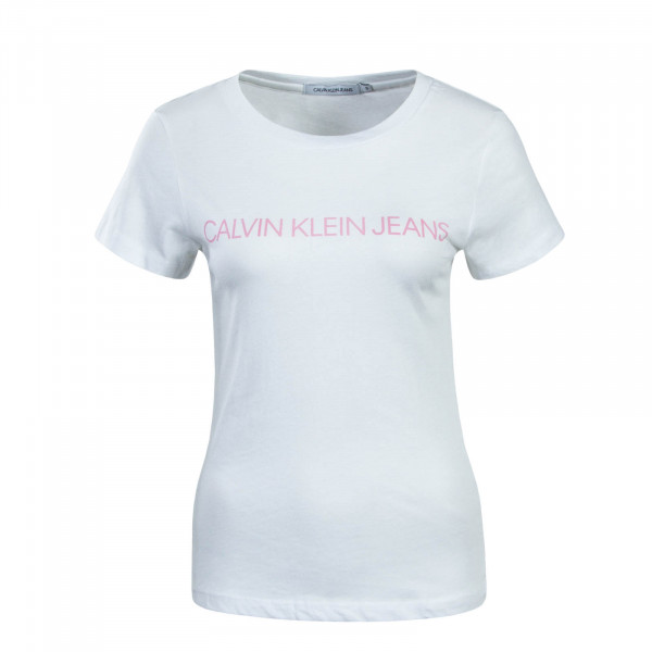 Damen T-Shirt Institutional Logo White Pink