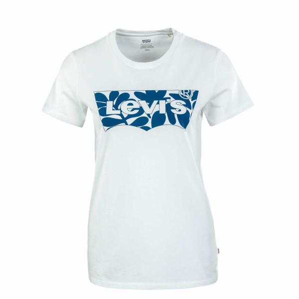 Damen T-Shirt - Perfect Batwing Fill - Beige / Blue
