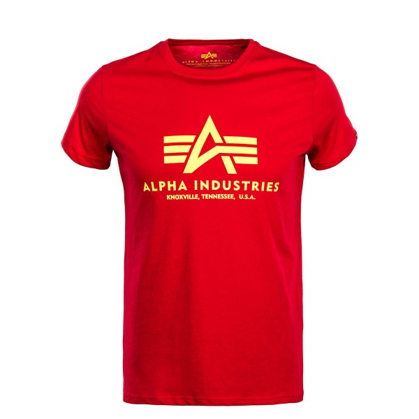 Herren T-Shirt Basic Red Yellow