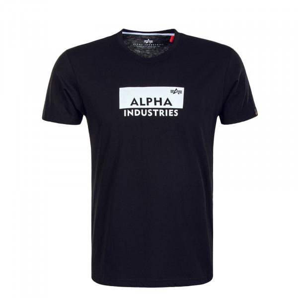 Herren T-Shirt Box Logo T Black White