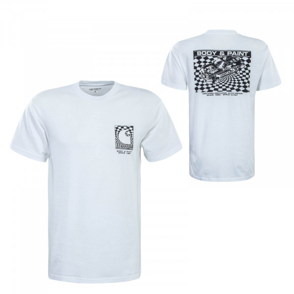 Herren T-Shirt Body Paint White Black