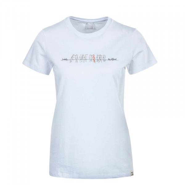Damen T-Shirt - Stay Birdy - White