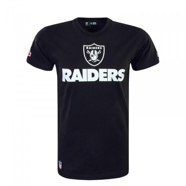 Herren T-Shirt NFL Fan Logo Oakrai Black