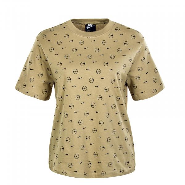 Damen T-Shirt - All Over Print - Parachute Beige