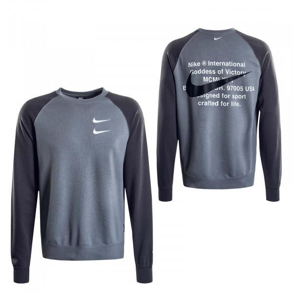 Herren Sweatshirt Swoosh Grey