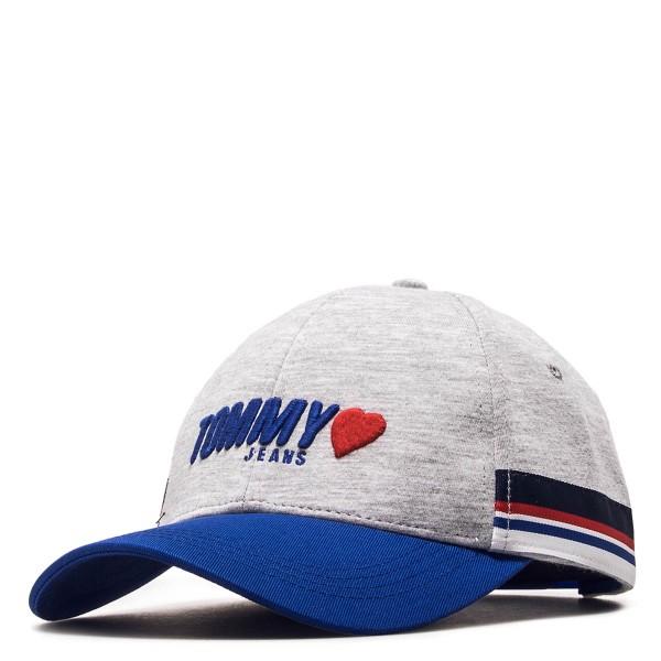 Tommy Wmn Cap TJW Heart Jersey Grey Roya