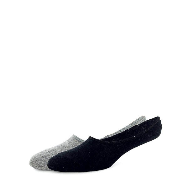 Champion Socks 2PK Invisible Footie BlkG
