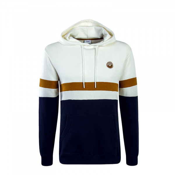 Clepto Hoody Nautic Beige Navy Brown