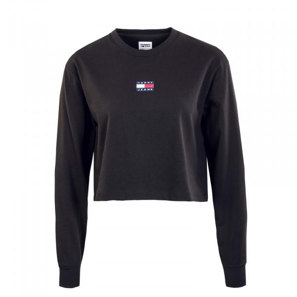 Damen Sweatshirt - Crop Badge - Black