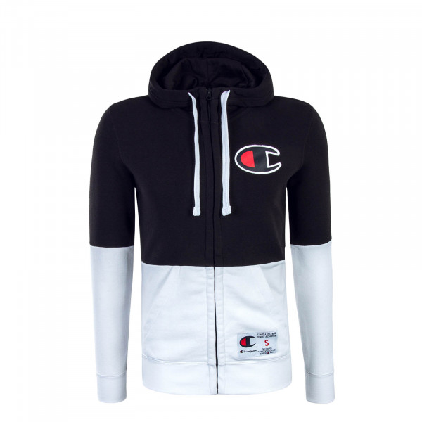 Herren Sweatjacke Black White