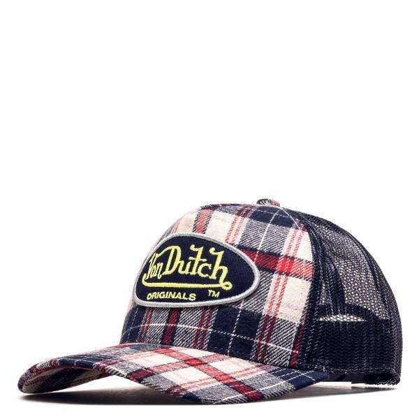 Trucker Cap - Flannel Check - Navy / Navy