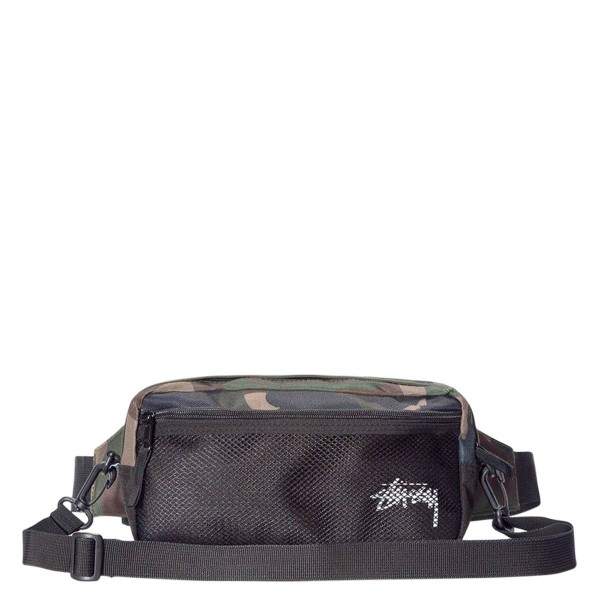 Stüssy Hip Bag Stock Side Woodland Camo