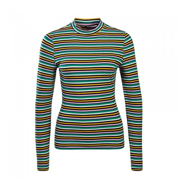 Only LS Fifi Mock Stripes Multi Green