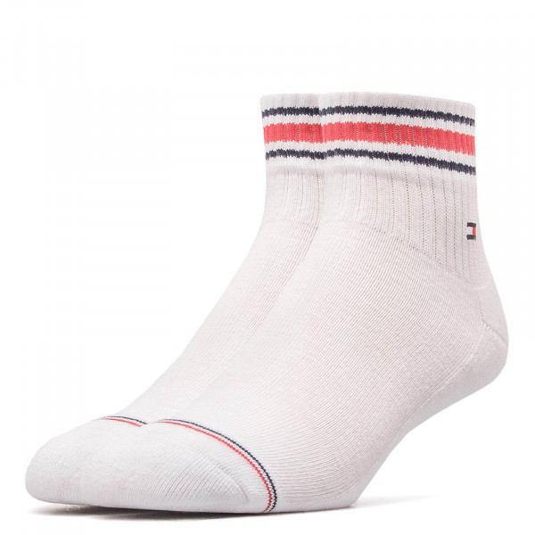 Tommy Socks 2Pk Iconic Sp Quarter White