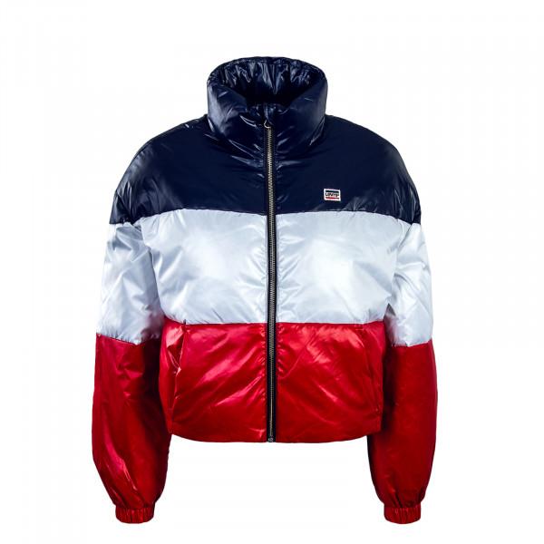 Levis Wmn Jacket Sam Puffer Navy White Red