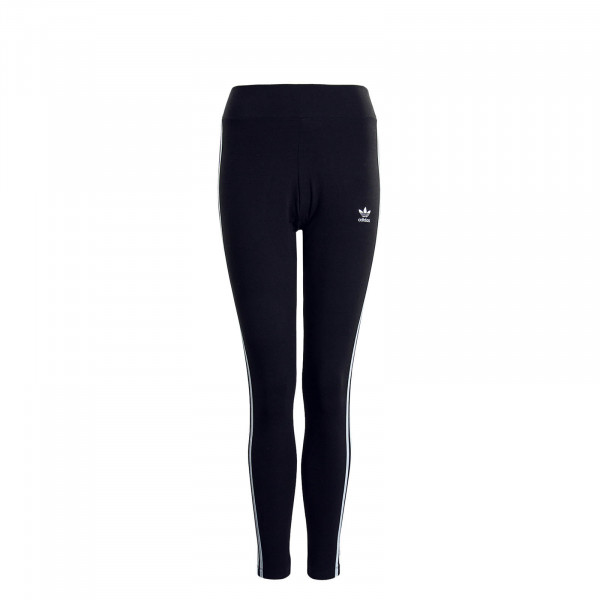 Damen Leggings 3Stripe Tight Black White