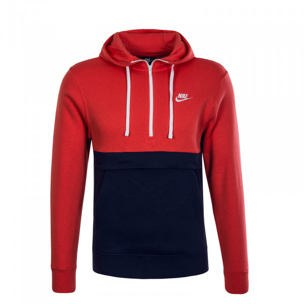 Herren Hoody Zip Club Red Navy White
