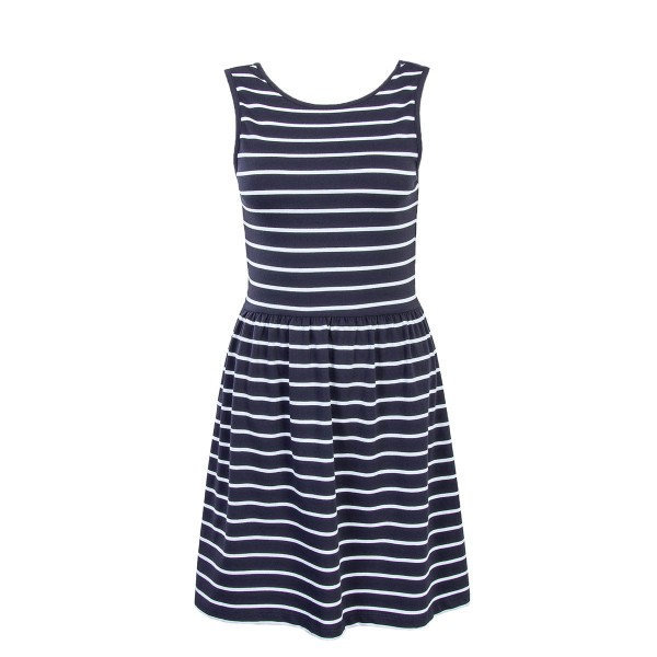 Only Dress Niella Navy Beige Stripes