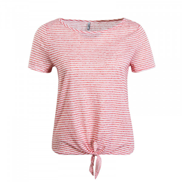 Damen T-Shirt Winnie Knot Stripe Red White